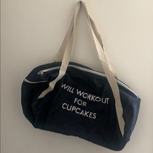 Handbags - Will Workout For Cupcakes Duffle bag
